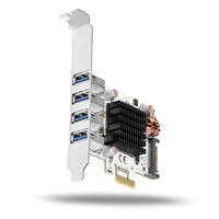 Axagon PCEU-43VQ PCIe controller 4x USB3.0 Adaptateur Interface