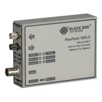 Black Box FlexPoint 10BASE-FL to BNC Media Converter, 10-Mbps Fiber to ThinNet, Multimode, 850-nm, 2 km, ST .....
