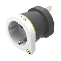 Q2-power 1.200100 Fiche secteur / adaptateur - Noir, Vert, Blanc
