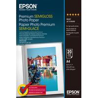 Epson Premium Semi-Gloss Photo Paper - A4 - 20 Feuilles Papier photo - Blanc