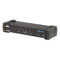 ATEN COMMUTATEUR/HUB 4 PORTS USB 2.0 DVI KVMP Commutateur KVM - Noir