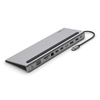Belkin USB-C 11-in-1 Hub Docks & port replicator - Zwart,Grijs