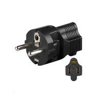 Microconnect PETRAVEL4 Netstekker/adapter - Zwart