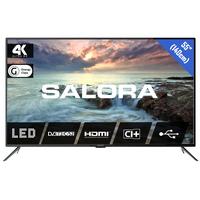 """Salora 2800 series 55"""" (140CM) UHD LED TV MET DVB-S2/T/T2/C EN USB MEDIASPELER Led-tv - Zwart"""