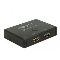 DeLOCK HDMI 2 - 1 Switch bidirectional 4K 60 Hz Commutateur vidéo - Noir