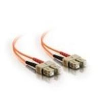 C2G 5m SC/SC LSZH Duplex 50/125 Multimode Fibre Patch Cable Fiber optic kabel - Oranje