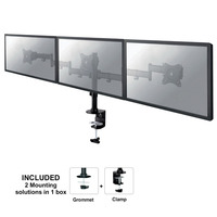 Newstar NM-D135D3 Monitorarm - Zwart