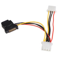 StarTech.com Câble d'alimentation adaptateur SATA vers LP4 avec 2 LP4 supplémentaires - Noir