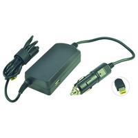 2-Power DC Car Adapter 20V 2.25A 45W Netvoeding & inverter - Zwart