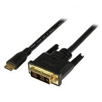 StarTech.com 3 m mini HDMI-naar-DVI-D-kabel M/M - Zwart
