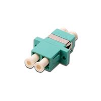 Digitus FO coupler, duplex, LC to LC, MM, color aqua, OM3 ceramic sleeve, polymer housing, incl. screws .....
