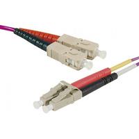 Connect SC-UPC/LC-UPC duplex multimode OM4 50/125 Fiber patch cable erika, 1 m Fiber optic kabel - Fuchsia