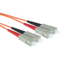 ACT 1,5m LSZHmultimode 62.5/125 OM1 glasvezel patchkabel duplexmet SC connectoren Fiber optic kabel - Oranje