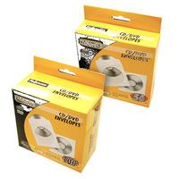 Fellowes 50x CD enveloppen papier - Transparant, Wit