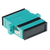 ACT Fiber optic SC-SC duplex adapter multimode Adaptateurs de fibres optiques - Noir,Cyan