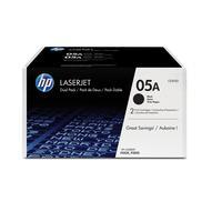 HP 05A 2-pack Black Original LaserJetCartridges Toner  - Noir