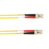 Black Box Câble de raccordement OM3 multimode coloré - LSZH Duplex Câble de fibre optique - Jaune