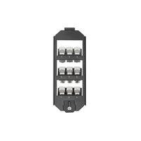 Digitus Vloerdoos, 3-voudig voor 9x Keystone module - Zwart