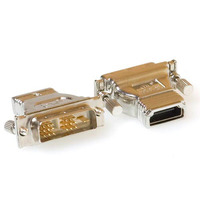 ACT Verloop adapter DVI-D male naar HDMI A female Kabel adapter