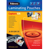 Fellowes Glossy Pouches A5 100 pcs. 125 mµ Lamineerhoes