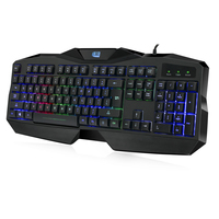 Adesso Gaming Illuminated Keyboard - QWERTY Toetsenbord - Zwart