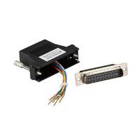 Black Box Adaptateur modulaire DB25 à RJ-45 (kit non monté) Adaptateur de câble - Noir