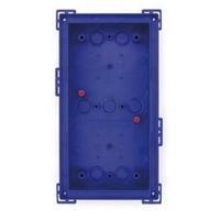Mobotix T24M\Double On-Wall mount Silver Elektrische knooppunt dozen - Blauw