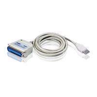 ATEN USB naar IEEE1284 printeradapter (1,8 m) Printerkabel - Wit