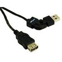 C2G 2m FlexUSB 2.0 A/A Cable Câble USB - Noir