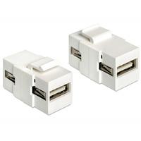 DeLOCK USB2.0 A f/f - Wit