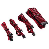 Corsair Premium Individually Sleeved PSU Cables Starter Kit Type 4 Gen 4, Red/Black - Noir,Rouge