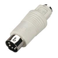 Black Box Mini DIN Adapter, 6-Pin Mini DIN Female to 5-Pin DIN Male Adaptateur de câble - Blanc