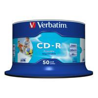 Verbatim CD-R AZO Wide Inkjet Printable no ID CD