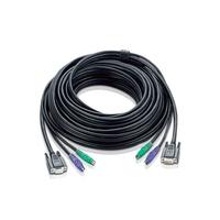 Aten KVM 5m cable KVM kabel - Zwart