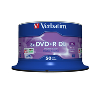 Verbatim DVD+R Double Layer 8x Matt Silver 50pk Spindle DVD vierge