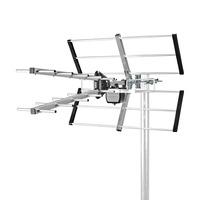 Nedis ABS/Aluminium, 75Ohm, UHF, 13dB, 777mm, Reception range:≥50km Antenne - Noir, argent