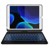 CP-CASES Keyboard Bookcase iPad (2018) / (2017) / Air (2) / Pro 9.7 - Zwart / Black