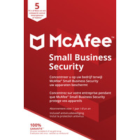McAfee Small Business Security, 5 Devices (Dutch / French) Logiciel de gestion de la sécurité