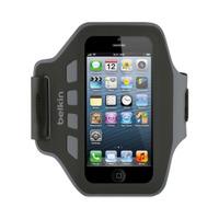 Belkin Brassard Slim-Fit Plus pour Apple iPhone 5/5s/5c, Noir/Gris - Noir,Gris