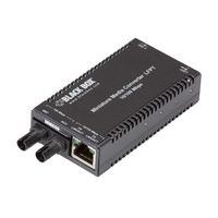 Black Box MultiPower Miniature Media Converter - 10-/100-Mbps TX/SX Multimode, 850-nm, 300 m, ST Convertisseur .....