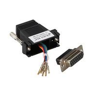 Black Box Adaptateur modulaire DB15 à RJ-45 (kit non monté) Adaptateur de câble - Noir