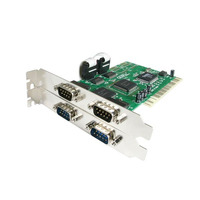 StarTech.com Carte PCI avec 4 Ports DB-9 RS232 - Adaptateur Série - UART 16550 Adaptateur Interface
