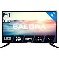 """Salora 1600 series Een schitterende 24"""" (61CM) HD LED televisie met USB mediaspeler en 12V Led-tv - Zwart"""