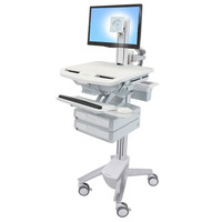 Ergotron StyleView Multimedia karren & stands - Aluminium,Grijs,Wit