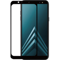 Azuri 2x Tempered Glass flat RINOX ARMOR - zwarte frame - voor Samsung A6 (A600) Schermbeschermer - Zwart, .....