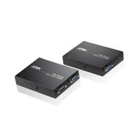 Aten VGA/Audio Cat 5-verlenger (1280 x 1024 bij 150 m) AV extenders - Zwart