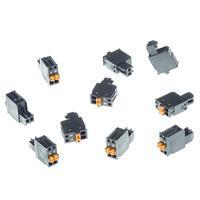 Axis Connector A 2-pin 2.5 Straight, 10 pcs Connecteur de câble - Gris