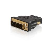C2G Velocity DVI-D mannelijk naar HDMI vrouwelijk inline adapter Kabel adapter - Zwart