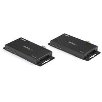 StarTech.com HDMI via glasvezel extender YUV4:4:4 4K 60Hz AV extenders - Zwart