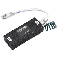 Black Box Power over Ethernet Surge Protector PoE adapter & injector - Zwart